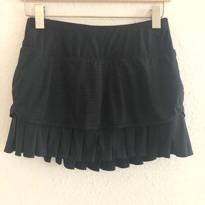 Athleta Black Skirt/ Short With Ruffle/ Size S